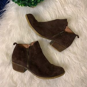 [Lucky Brand] Brown Leather Booties | Size 6.5